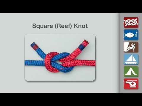 How to Tie a Square Knot (Reef Knot)