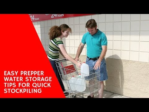 Prepper Water Storage Tips for Stockpiling