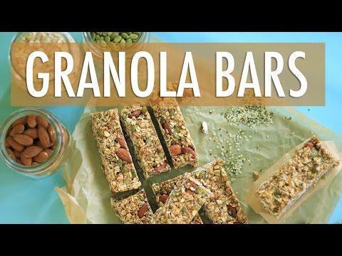 How to Make GRANOLA BARS recipe | EASY & HEALTHY Snack Ideas