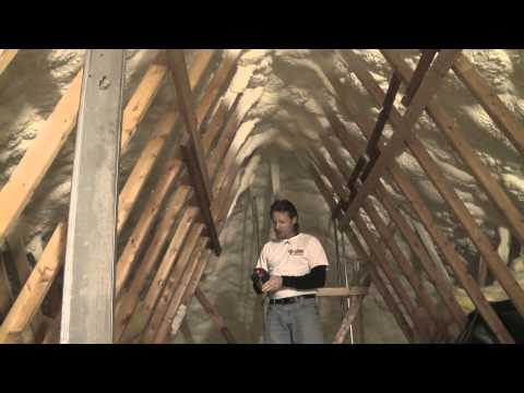 Insulating and Air Sealing an Attic with Spray Foam (Short Version)