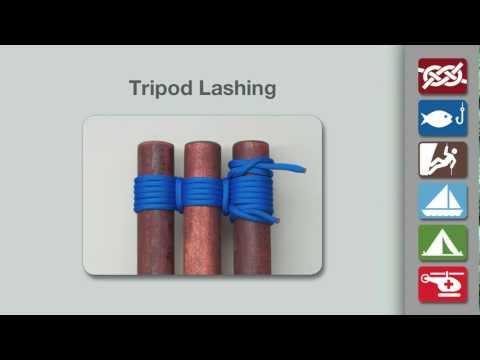 Tripod Lashing | How to Tie a Tripod Lashing