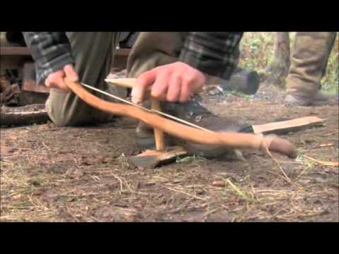 Bow Drill Fire Making at Alderleaf Wilderness College
