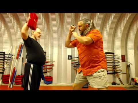 Punching Using A Carabiner D Ring Key Chain for Self Defense