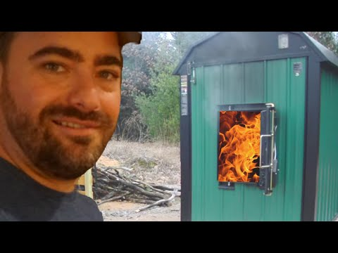 Outdoor Wood Burning Furnace Tour- HOW IT WORKS!