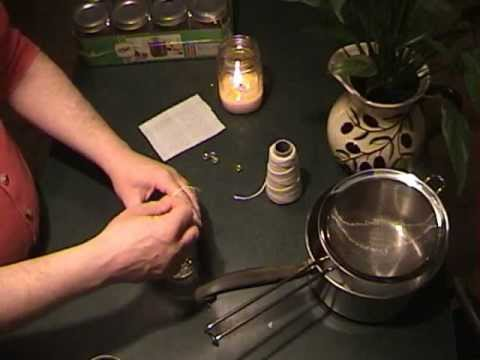 How to make tallow candles.
