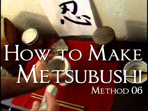 06 Concealment Methods - How to Make Metsubushi (Ninja Blinding Powder)