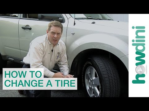 How to Change a Tire   Change a flat car tire step by step