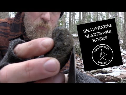 Axe Sharpening with a Rock