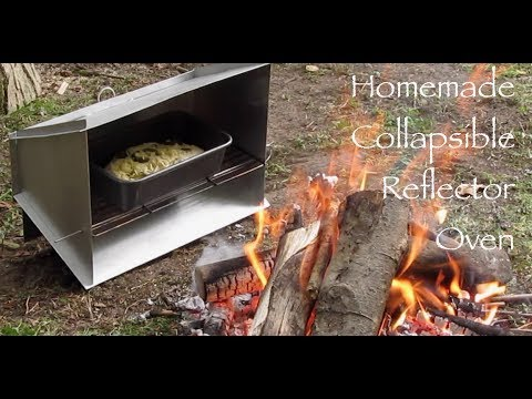 Homemade Collapsible Reflector Oven. How I made it and first time use.