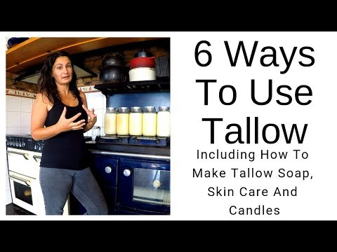 DAY 227 - 6 Uses For Tallow (Including How To Make Tallow Soap & Candles & Moisturiser Included)