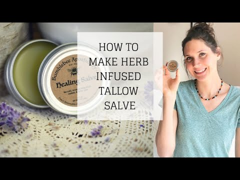 How to Make Herb Infused Tallow Salve | NATURAL FIRST AID REMEDY | Bumblebee Apothecary
