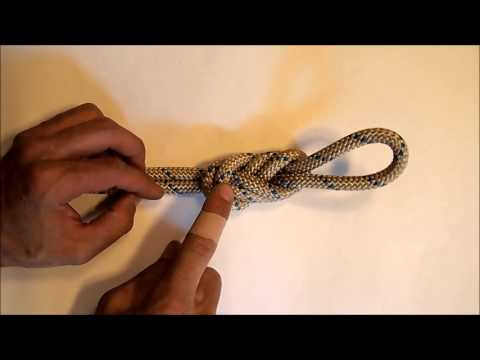 How to tie a figure eight knot on a bight