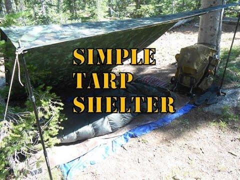 Simple Tarp Shelter
