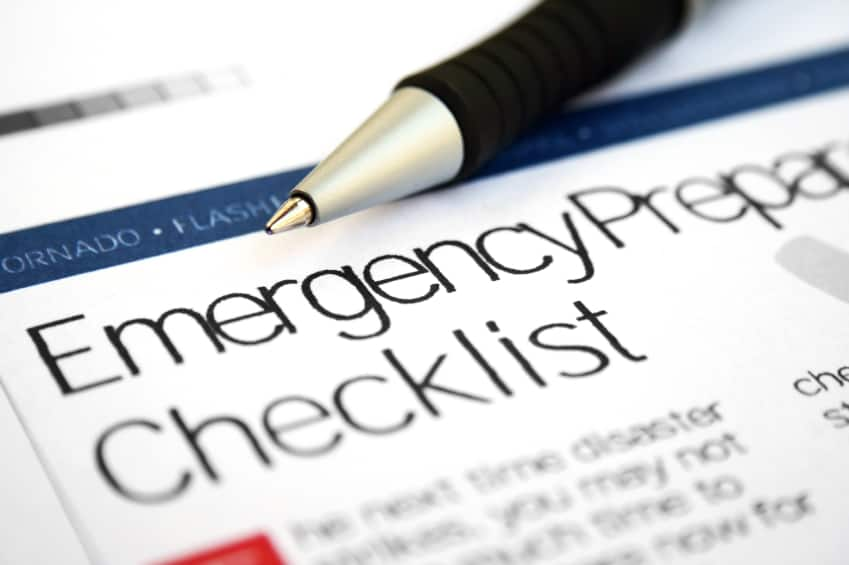 Disaster Checklist Photo