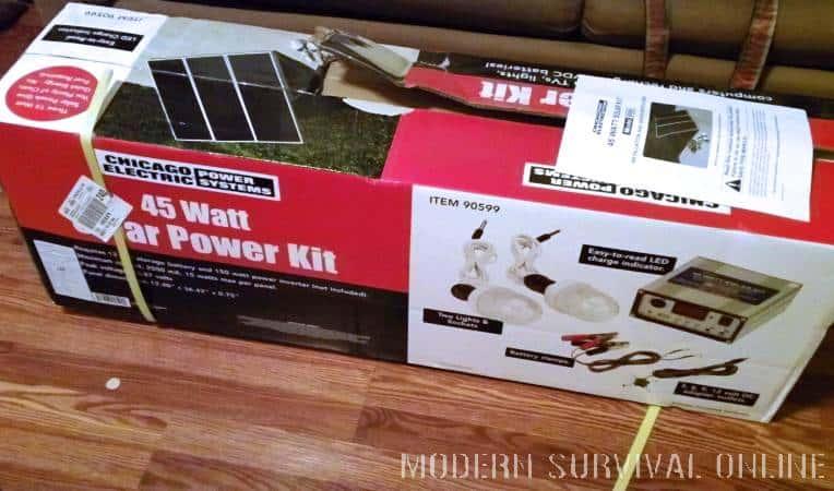 45 Watt solar power kit