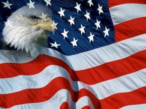 Flag-with-eagle