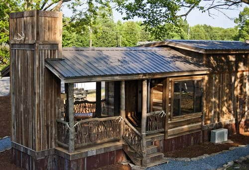 Awesome ready made hunting cabin or bug out location for Hunting camp building plans