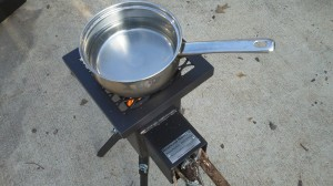 Water on the stove - bringing to a boil