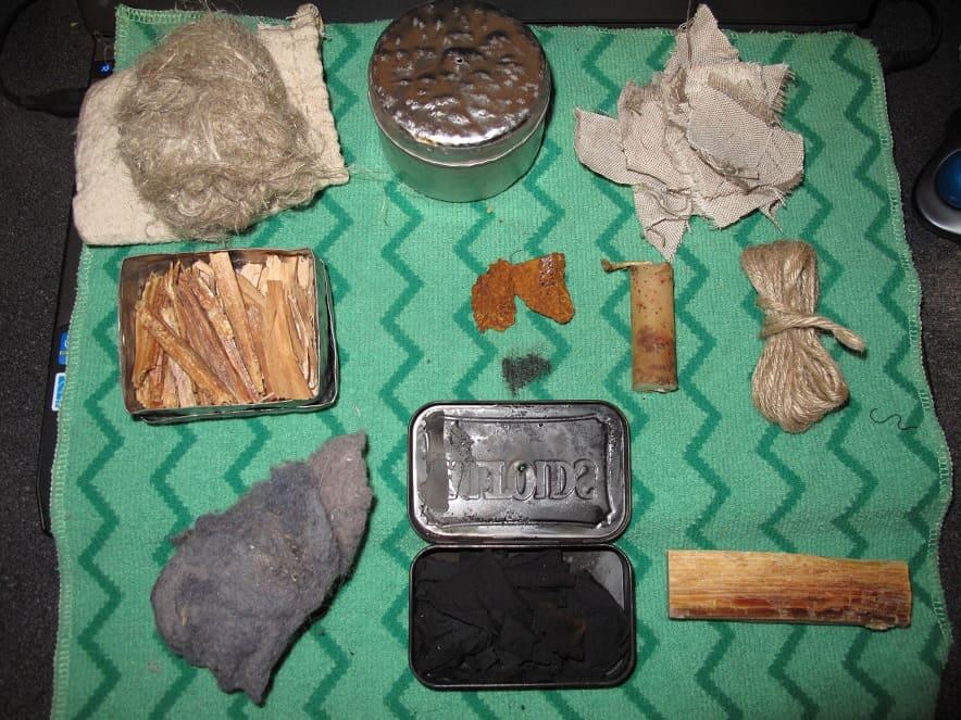 tinder kit, tinder, fire starting, survival, survival kit, preparedness, supplies