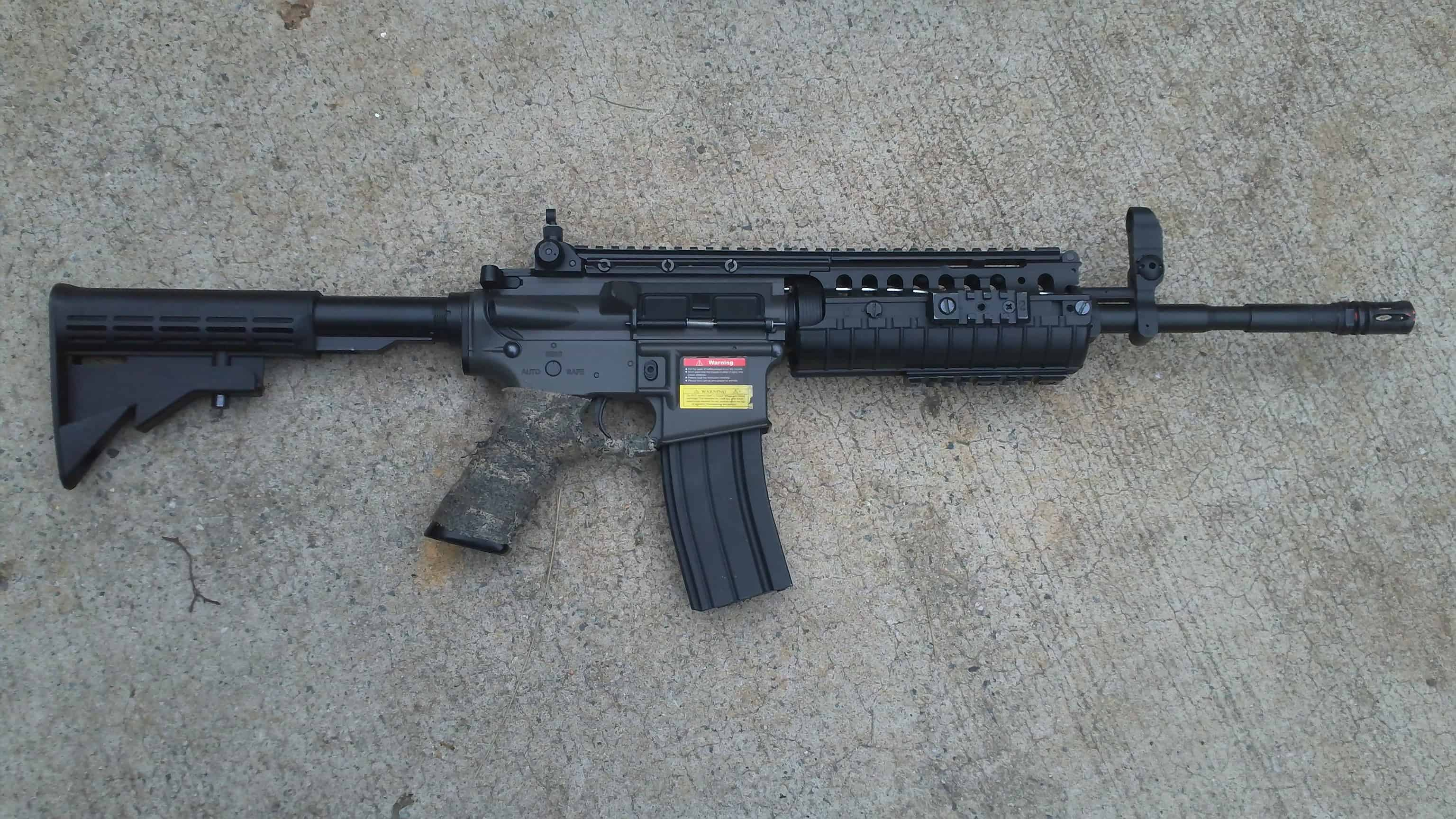 My M4 airsoft carbine......
