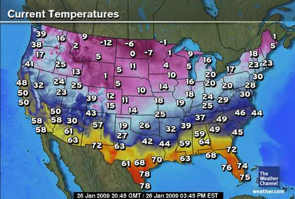 US Weather Map US Weather Forecast Map Weather Temperature Map My - Weather map of the us with temps