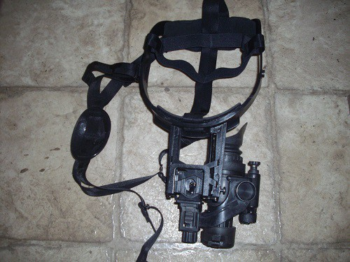 ATN PVS14Gen 2+ with J-arm mounted to head harness