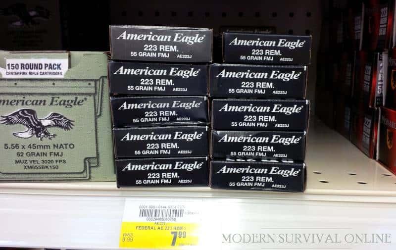 ammo on store shelf