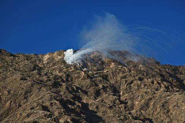 smoke bomb explosion