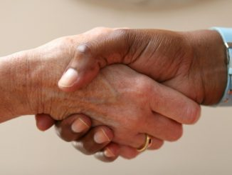 shaking hands after a barter