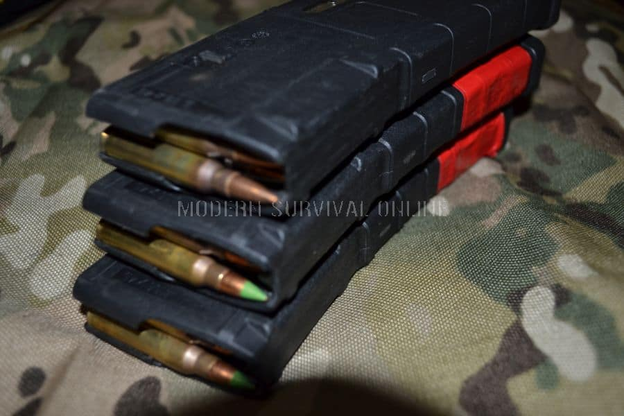 Magazines, stack of loaded PMAGS