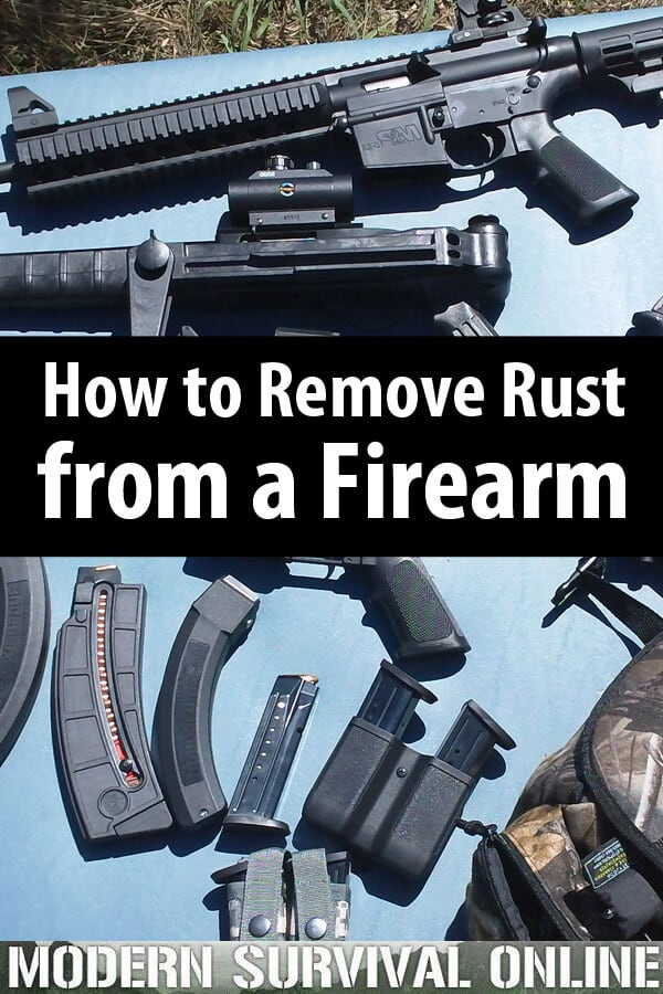 remove rust from guns pin