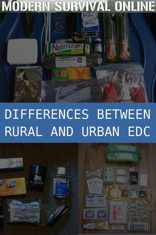 rural vs urban edc pinterest