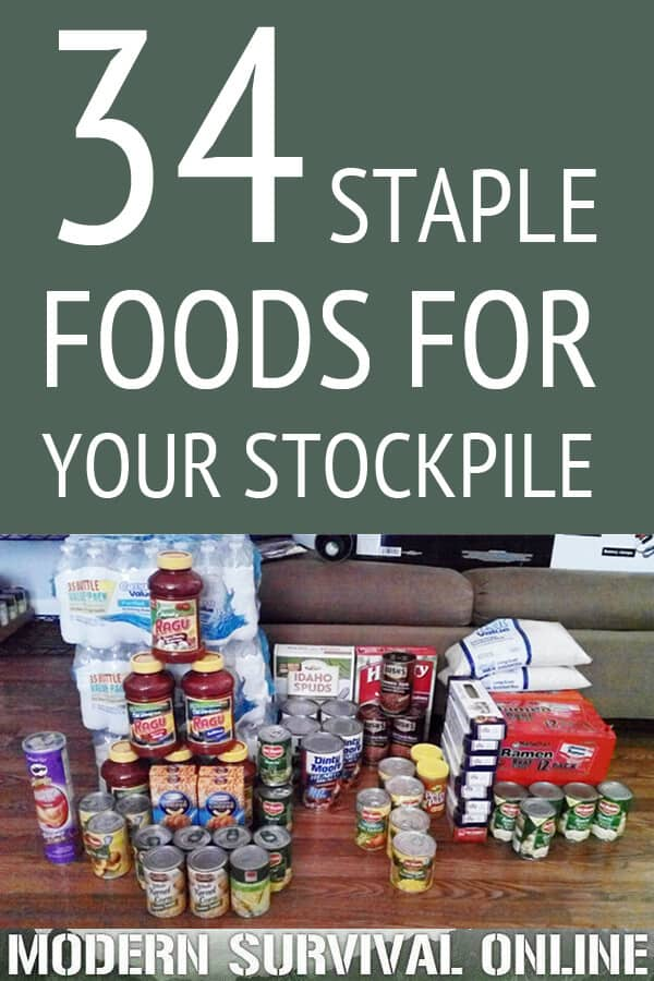 34 Staple Foods For Your Stockpile