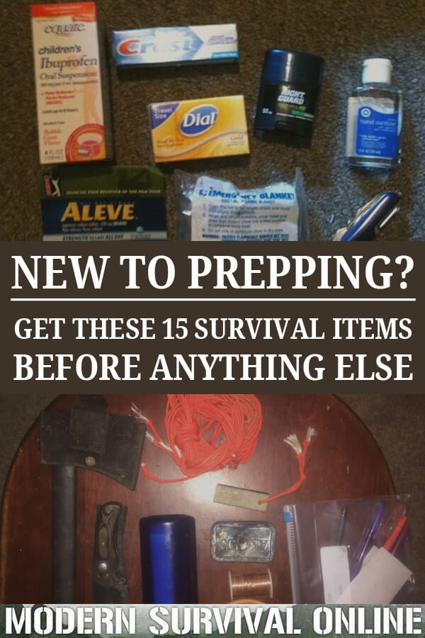 top survival items pinterest