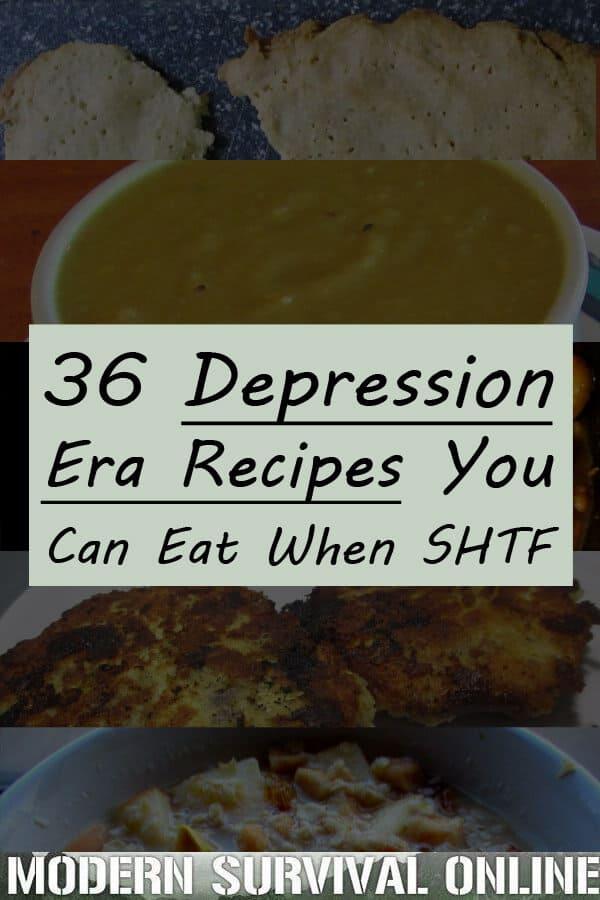 depression era recipes pin