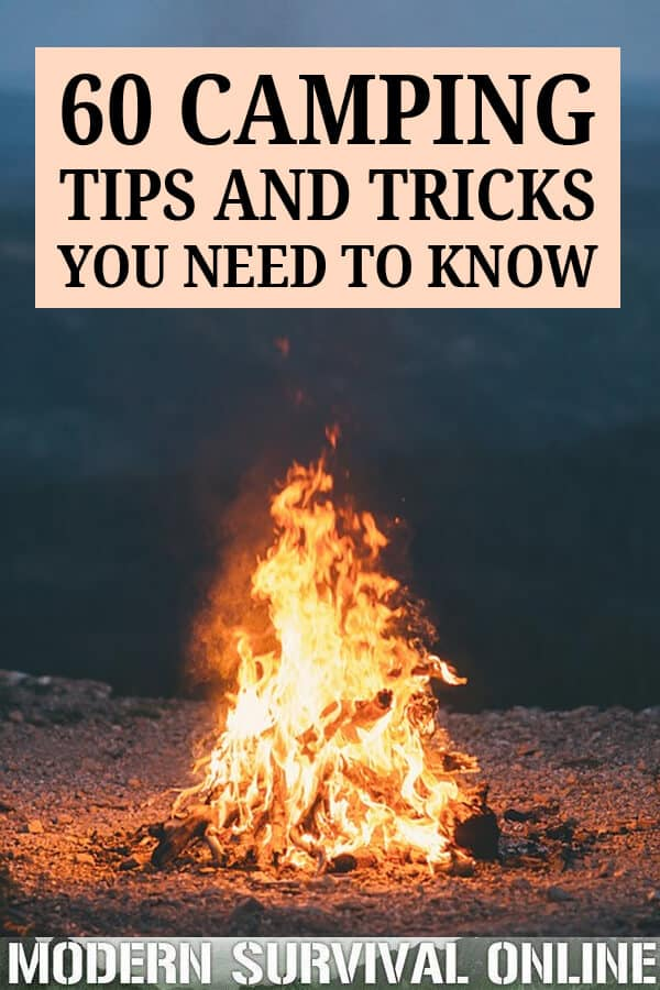 camping tips and tricks pin