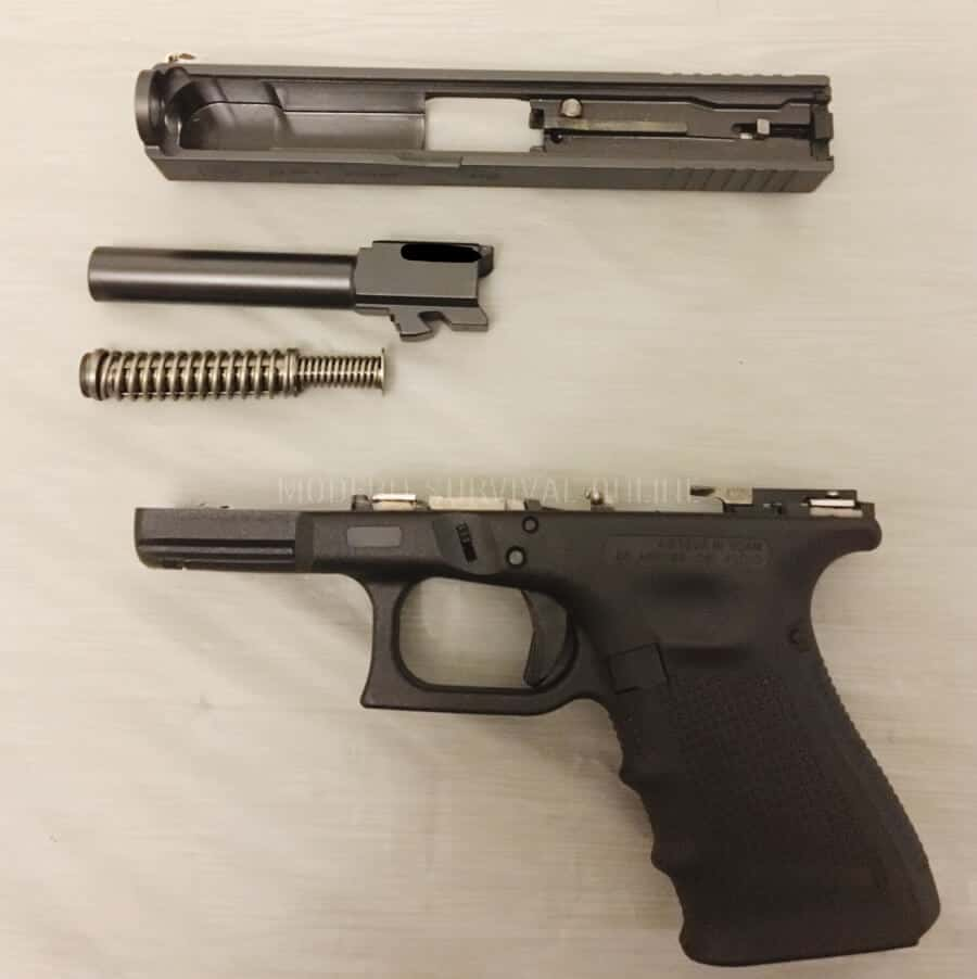 disassembled glock