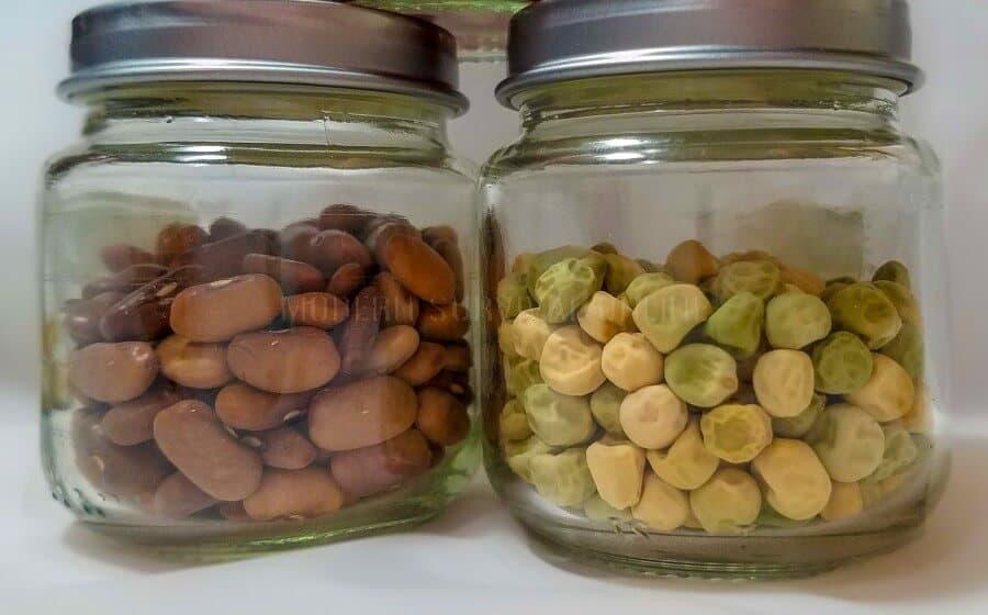 seeds in mason jars