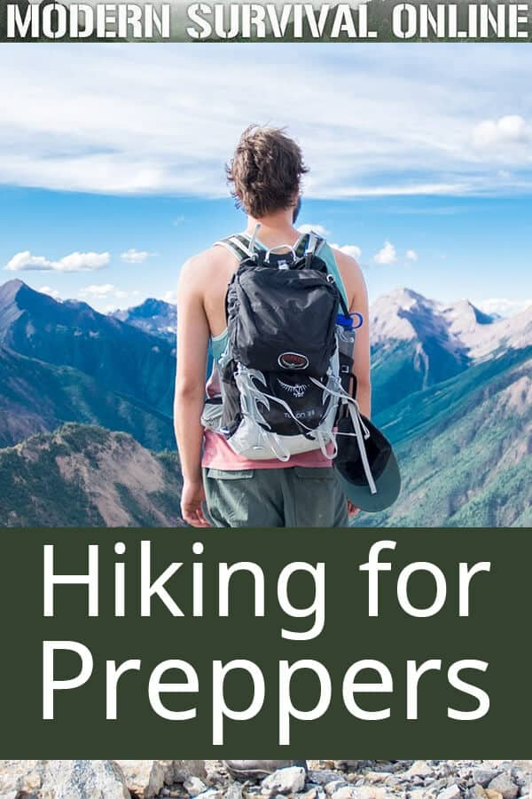 hiking for preppers pin image