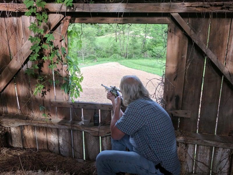 Bobby shooting a firearm