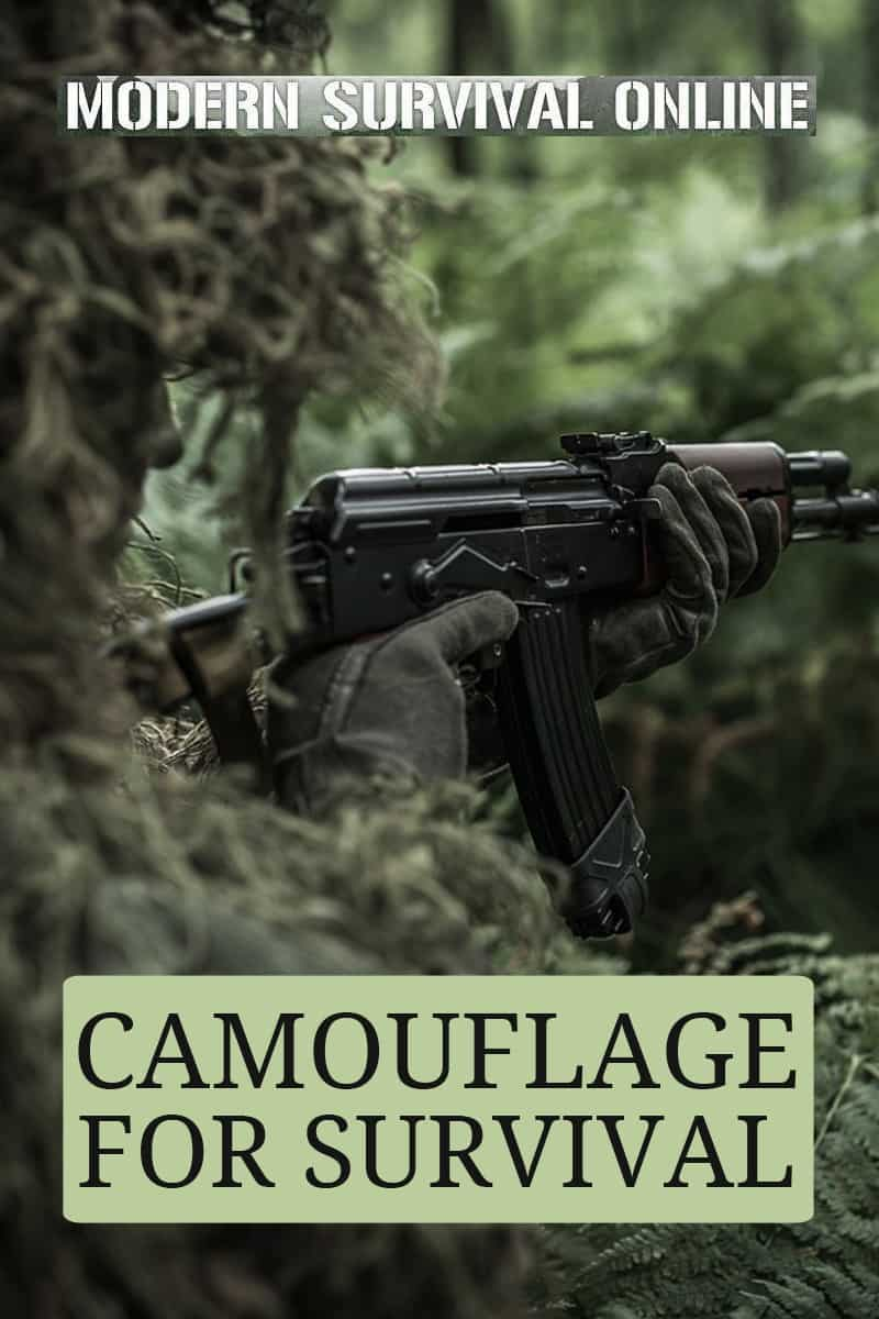 camouflage for survival pin