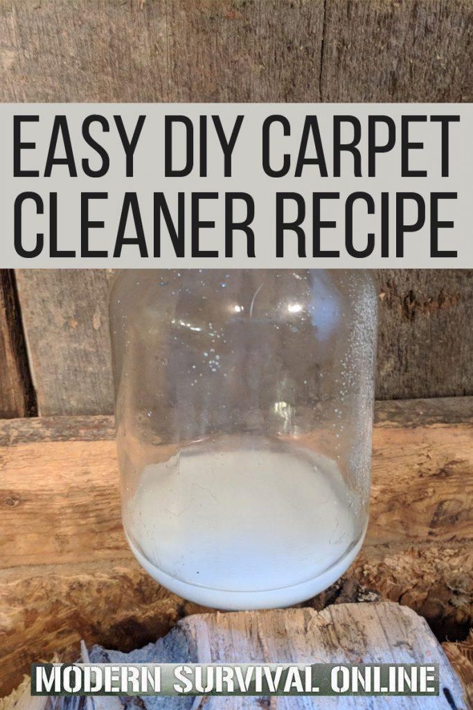 DIY carpet cleaner Pinterest image