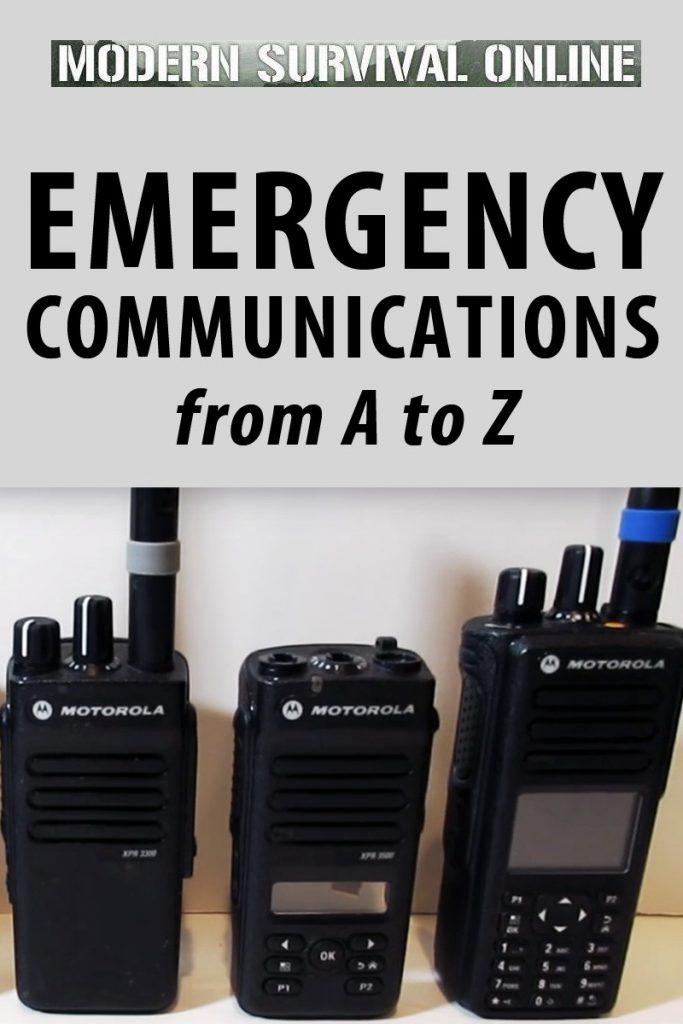 emergency communications Pinterest