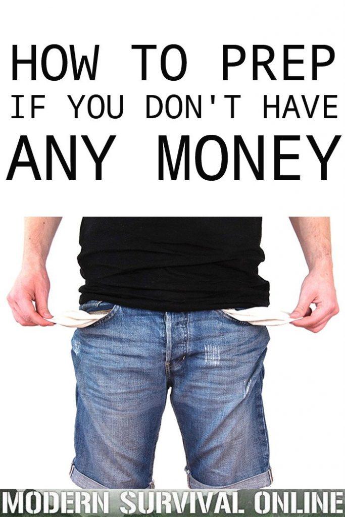 no money prepping Pinterest