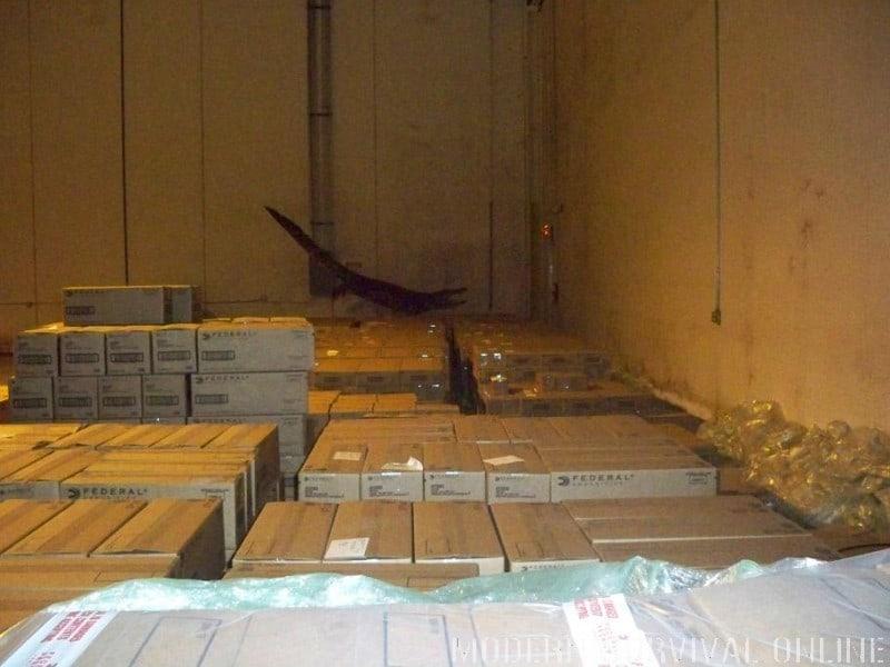 ammo in gun store warehouse