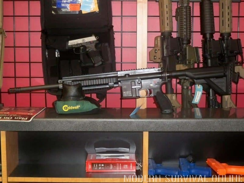 ar-15 in gun store