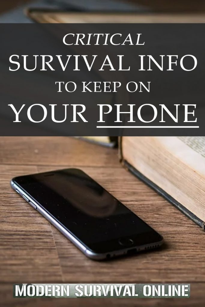survival information phone