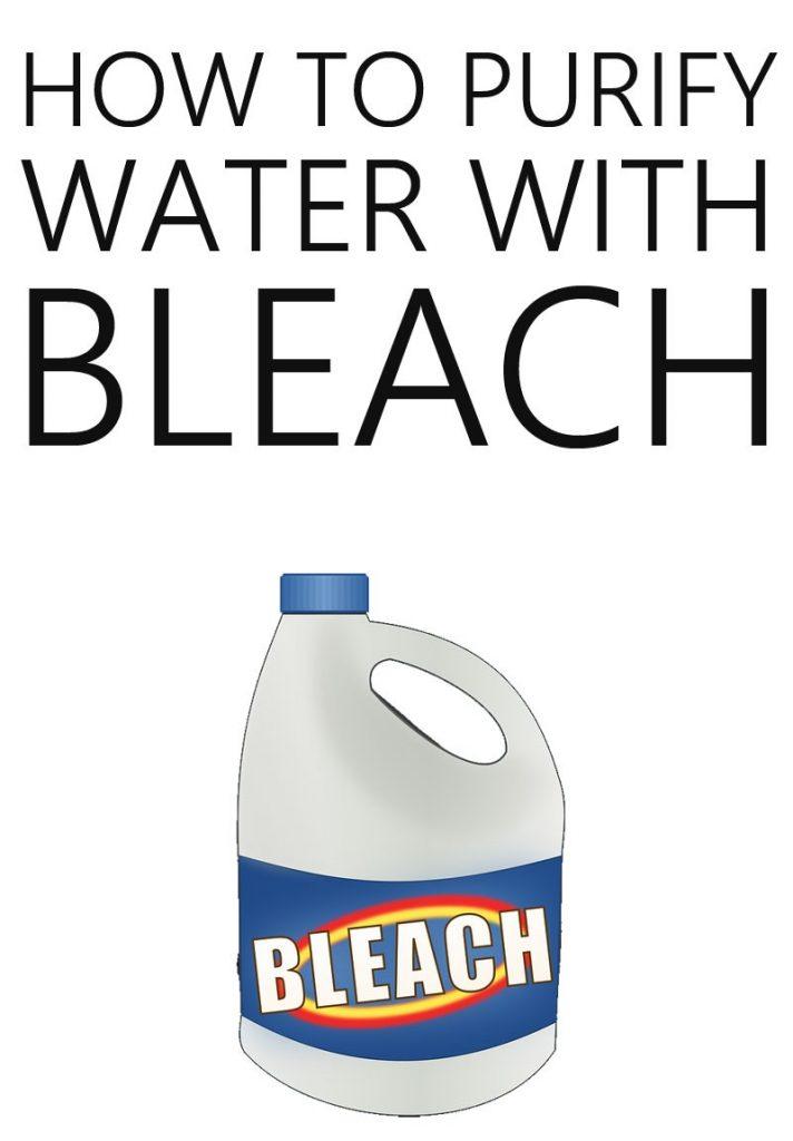 bleach water purification pinterest