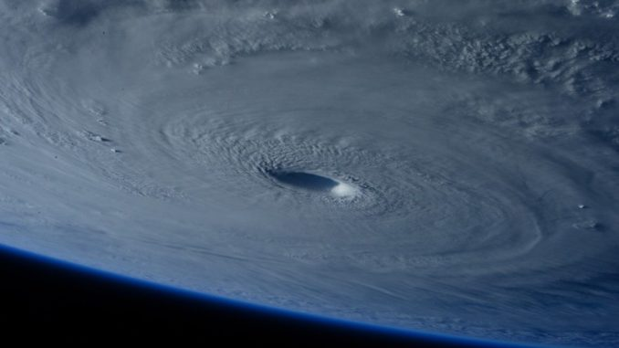 hurricane seen from outer space
