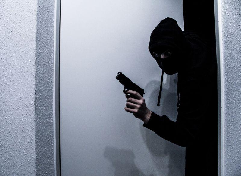 armed burglar